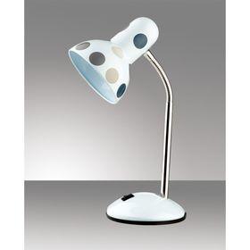 Настольная лампа Flip E27 60W горох белый, серый, синий