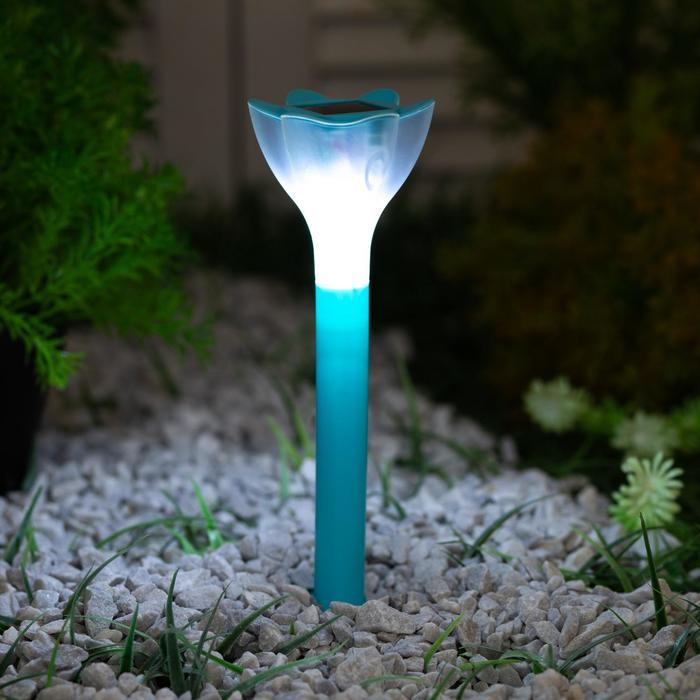 Садовый светильник на солнечной батарее Uniel Blue crocus, серия Classic