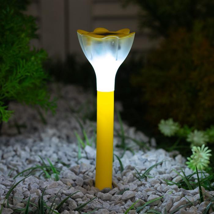 Садовый светильник на солнечной батарее Yellow crocus, серия Classic