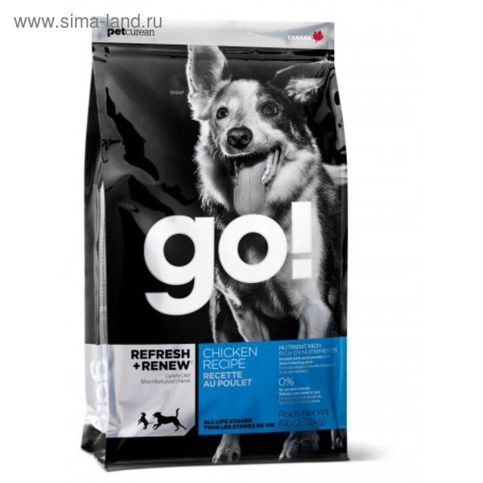 Сухой корм GO! для щенков и собак, курица/фрукты/овощи, 5,45 кг.