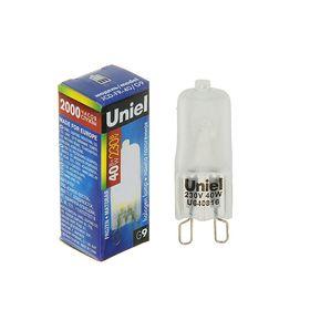 Лампа галогенная Uniel, G9, 40 Вт, 230 В, матовая