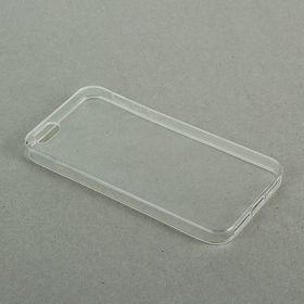 Чехол LuazON для телефона iPhone 5/5S, силиконовый, тонкий, прозрачный