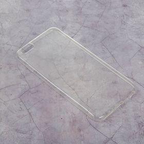 Силиконовый чехол LuazON для iPhone 6 plus, тонкий, прозрачный