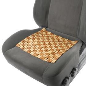 Накидка-массажер на сиденье из бамбука 37 х 36 см, светлый цвет Ош