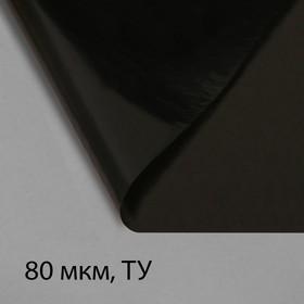 Плёнка полиэтиленовая, техническая, толщина 80 мкм, 3 × 10 м, рукав (1,5 м × 2), чёрная, 2 сорт, Эконом 50 % Ош