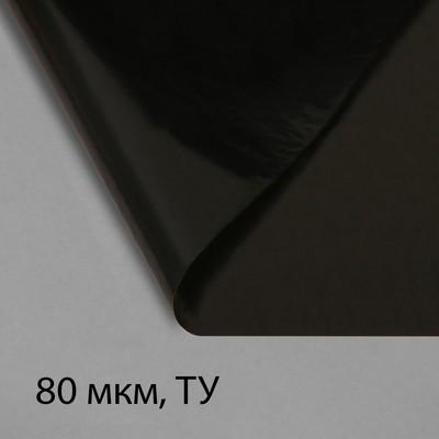 Плёнка полиэтиленовая, техническая, толщина 80 мкм, 3 × 10 м, рукав (1,5 м × 2), чёрная, 2 сорт, Эконом 50 % - Фото 1