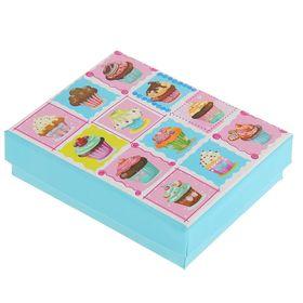 """Коробка подарочная """"Пирожное"""", 9,5 х 7,5 х 2,5 см"""