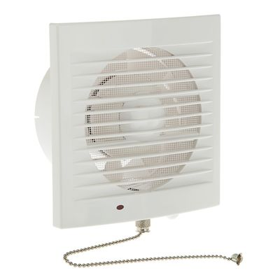 Вентилятор вытяжной TDM 120 СВп, 230 В, настенный, d=120 мм, с выкл. и проводом 1,3 м