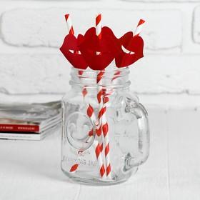 Трубочки для коктейля «Губки», набор 4 шт., цвета МИКС Ош
