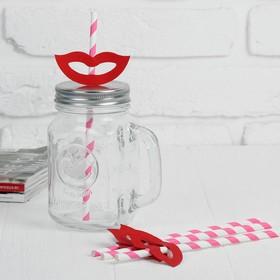 Трубочки для коктейля «Улыбка», набор 4 шт., цвета МИКС Ош