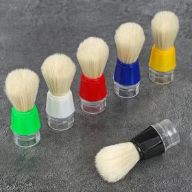 Помазок для бритья, пластиковый, цвет МИКС Ош