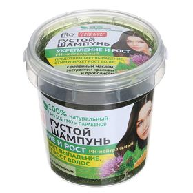 """Шампунь густой """"Народные рецепты"""" укрепление и рост, для всех типов волос, 155 мл"""