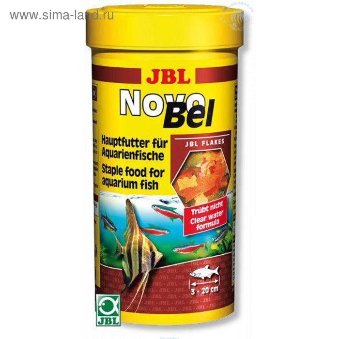Основной корм JBL NovoBel для всех аквариумных рыб, хлопья, 250 мл, 45 г