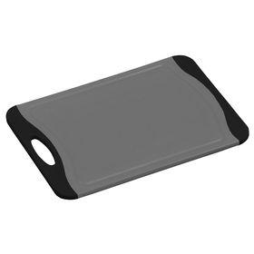 Доска разделочная Kesper, пластик, серая с чёрными ручками, 29 х 20 х 0,9 см