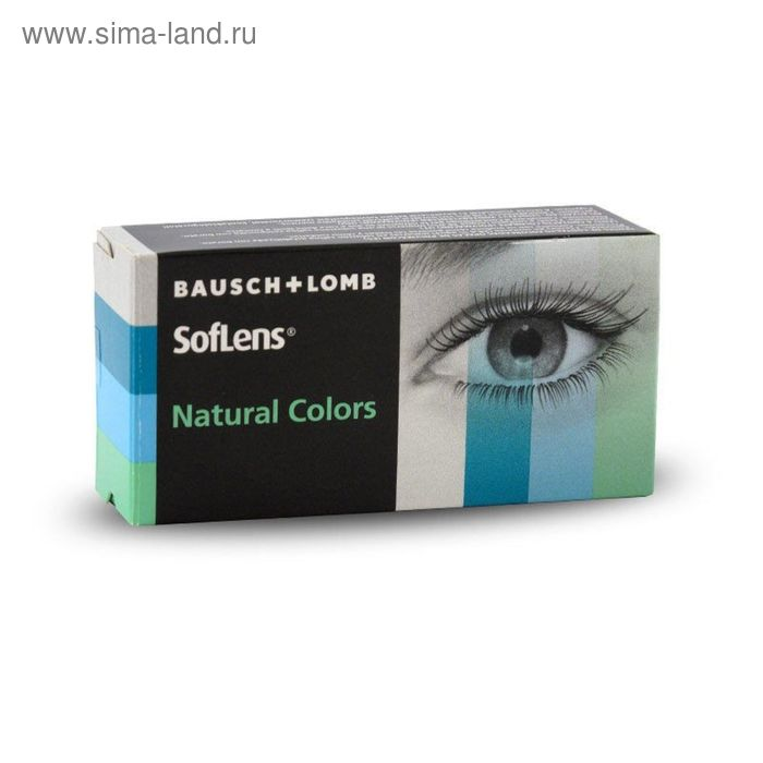 Цветные контактные линзы Soflens Natural Colors Pacific Blue, диопт. 0, в наборе 2 шт.
