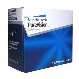 Контактные линзы Pure Vision, -6,5/8,3, в наборе 6 шт.