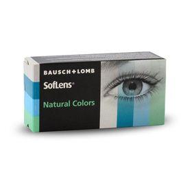 Цветные контактные линзы Soflens Natural Colors Blue Topaz, диопт. -4, в наборе 2 шт. Ош