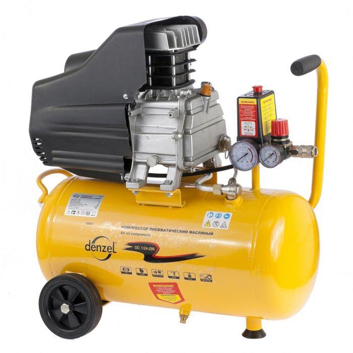 Компрессор воздушный DENZEL PC 1/24-205 1,5 кВт, 206 л/мин, 24 л