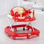 Ходунки «Игротека», 8 силик. колес, муз., свет, красный