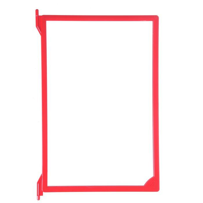 Рамка пластиковая для перекидной системы A4, INFOFRAME, без протектора, цвет красный
