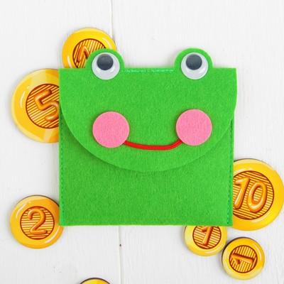 Кошелёк с монетами «Лягушка», монеты 2,5-4 см.