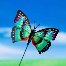 Штекер декоративный для комнатных растений 'Бабочка' 6х7см, 25см Ош
