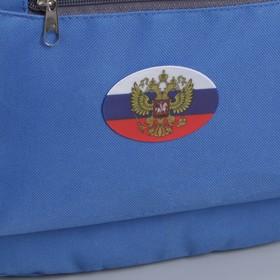 Светоотражающая наклейка «Триколор с гербом», 7 × 5 см, 4 шт на листе, цвет белый/синий/красный Ош