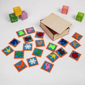 Мемо «Ассорти» в деревянной коробочке, 20 шт., 5 × 5 см Ош