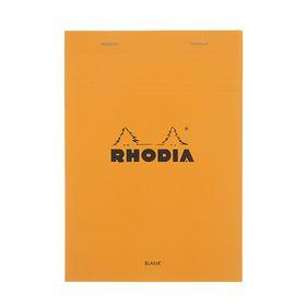 Блокнот для записей А5, 80 листов Clairefontaine №16, 80 г/м², оранжевый с перфорацией, цвет листа — белый