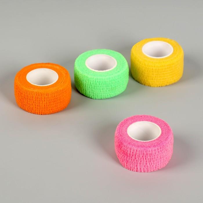 Лента-бандаж защитная, для пальцев, 2,5 см × 3 м, цвет МИКС