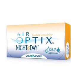 Контактные линзы Air Optix Night&Day Aqua , -10/8,4, в наборе 3 шт