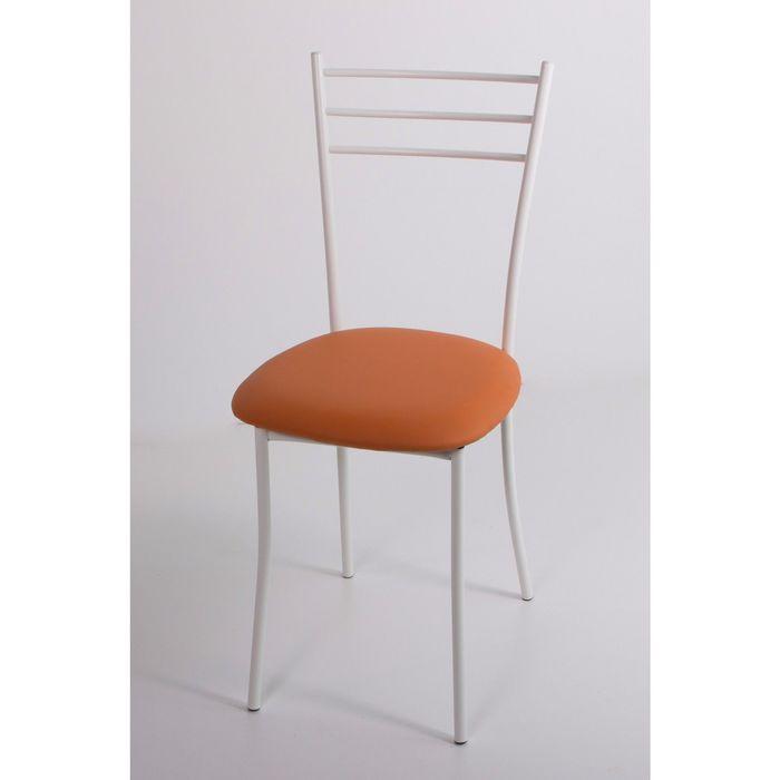 Стул на металлокаркасе Хлоя СТ белый/оранжевый