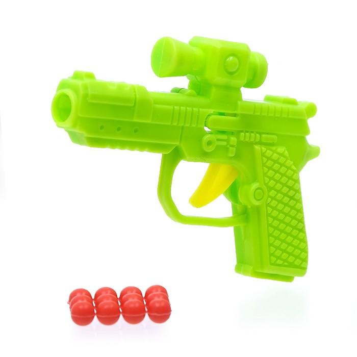 """Пистолет механический """"Малыш"""", стреляет шариками"""