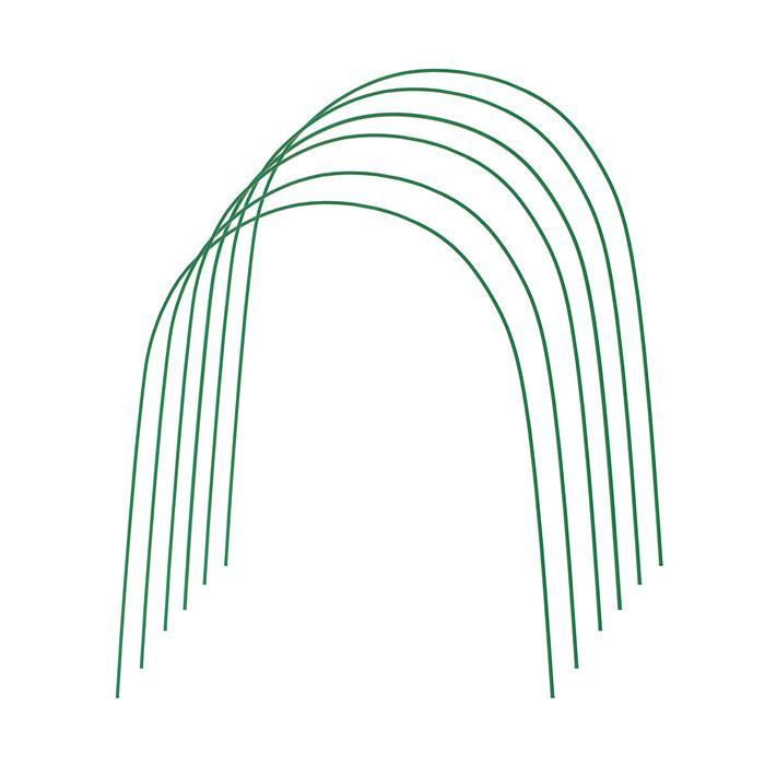 Дуги для парника, металл в кембрике 3 м, d = 10 мм, набор 6 шт.