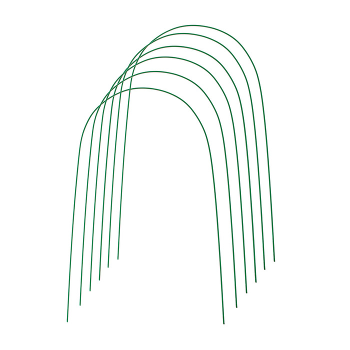 Дуги для парника, металл в кембрике 4 м, d = 10 мм, набор 6 шт.