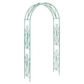 Арка садовая, разборная, 230 × 125 × 36.5 см, металл, зелёная, «Ландыш» Ош