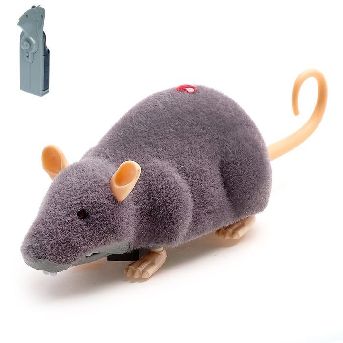 Животное радиоуправляемое Мышка, световые эффекты, работает от батареек, цвета МИКС