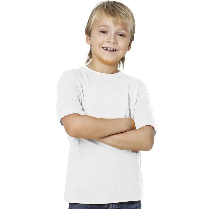 Футболка детская, рост 140 см, цвет белый