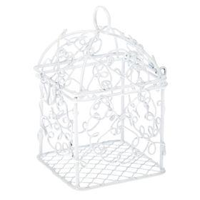 Сувенир металл подсвечник 'Клетка узорная' белый основание квадрат 8х5х5 см Ош
