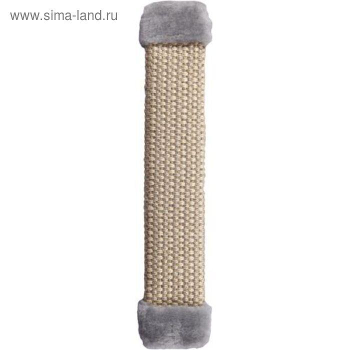 Когтеточка плетеная, сизаль, серая, 50 х 8 см