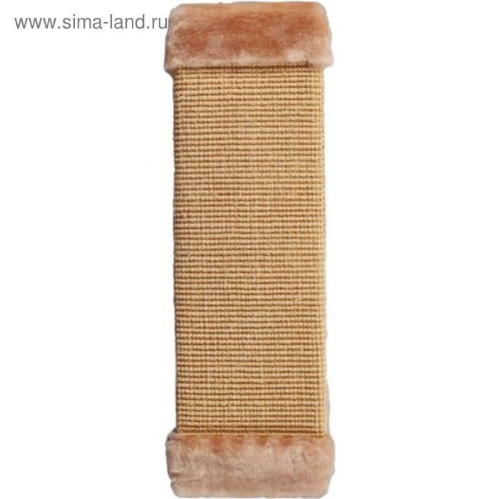 Когтеточка большая плетеная, сизаль, бежевая, 50 х 15 см