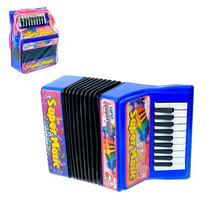 Музыкальная игрушка Аккордеон, 10 мелодий, МИКС