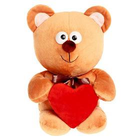 Мягкая игрушка «Мишутка с сердцем», цвет бежевый, 30см