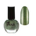 Лак для ногтей с блёстками, 9мл, цвет 100-268 светло-зелёный