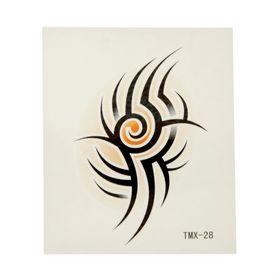 """Татуировка на тело """"Трайбл"""" 3,6х5,5 см"""