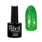 """Гель-лак для ногтей """"Горный хрусталь"""", трёхфазный LED/UV, 10мл, цвет 007 зелёный"""