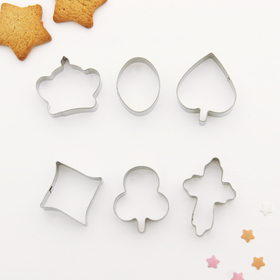Набор форм для вырезания печенья 'Фигурки', 6 шт Ош