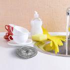 Набор мочалок для посуды металлических АкваМаг, 15 гр, 10 шт - Фото 4