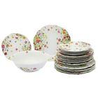 Сервиз столовый 19 предметов Meadow: тарелка десертная 6 шт, тарелка обеденная 6 шт, тарелка глубокая для супа 6 шт, салатник 1 шт