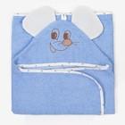 Полотенце-уголок, размер 125х65 см, цвет голубой К23/2